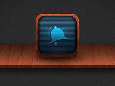 iOS icon WIP ios icon app iphone teasing wood texture grey orange brown blue wip website