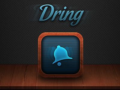 www.dringapp.com ios icon app iphone web teasing wood texture dring