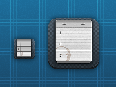 iOS Notebook icon icon ipad app ios notebook paper stitches staples texture