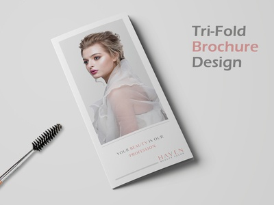 Tri-Fold Brochure Design for Beauty Salon