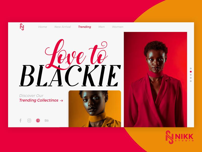 Fashion UI/UX Design | Nikk Studio ux trending dribbble inspiration creative design branding design nikkstudio website ui