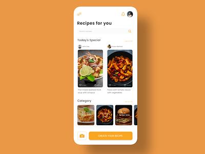 Recipe App adobexd recipe app mobile app design ui ux