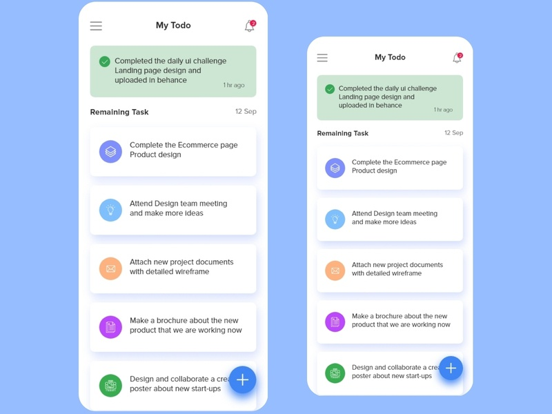To Do list app ui design appscreen interaction uxdesign ux uidesign ui design appdesign app