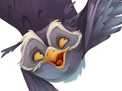 WIP owls owls character design digital paint