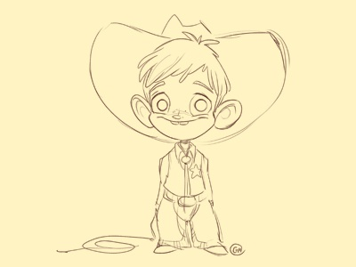 Cowboydribb cowboy boy sketch sketchadaytil30 character design