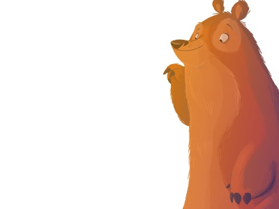 Curious Bear Dribbb bear character design digital painting illustration yosemite