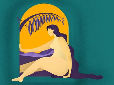 Windowframe sketch anatomy woman vector illustration art graphic design design illustrator illustration