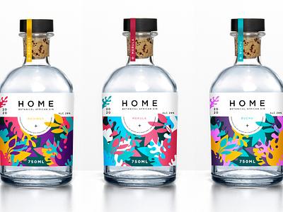 HOME African Botanical Gin Design packaging design packaging gin branding illustrator graphic design illustration