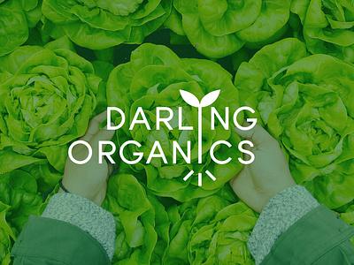 Darling Organics Logo farming organic branding logo design graphic design