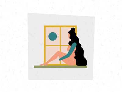 'Seeker' self portrait illustration art vector woman design illustrator graphic design illustration