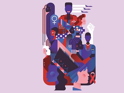 South African Women - An Inspiring History south africa feminist art feminist woman vector illustration art design illustrator graphic design illustration