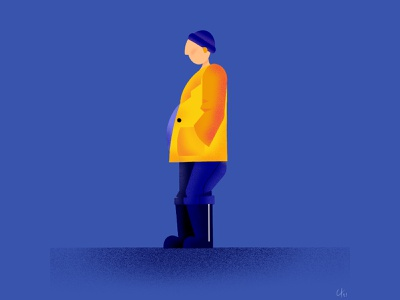 Walker 1 character texture illustrator illustration art vector walker procreate graphic design illustration