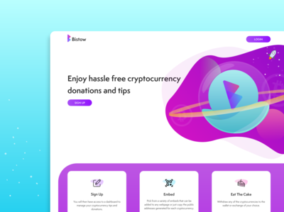 Bistow landing page