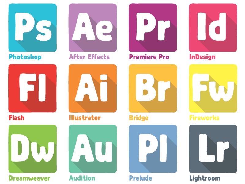 Adobe dock icons shot