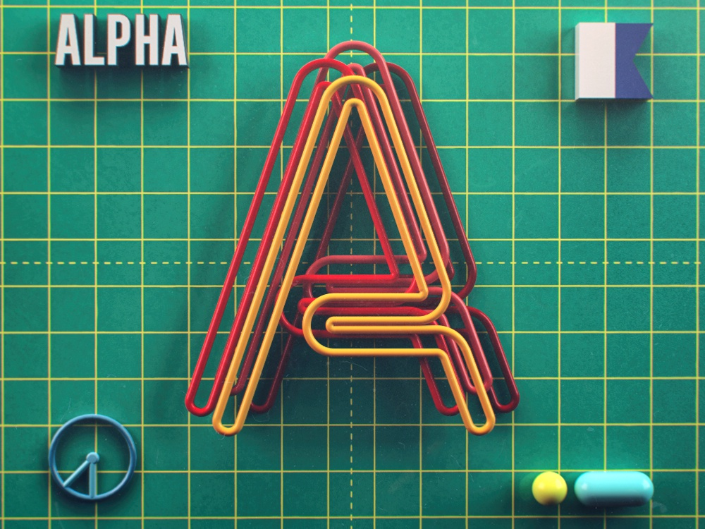 Alpha typography alpha texture a letter cgi lettering typedesign photoshop illustration cinema4d 36daysoftype