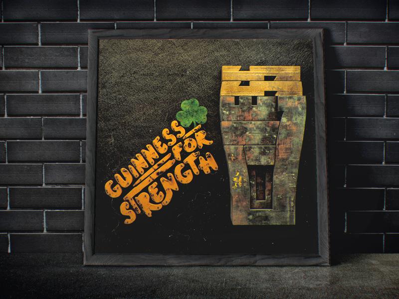 Guinness typography poster dublin ireland beer branding beer stout guinness