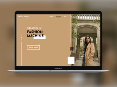 Website landing page uiux ux ui mockups dailyuichallenge dailyui clothing design fashion website fashion brand landing page