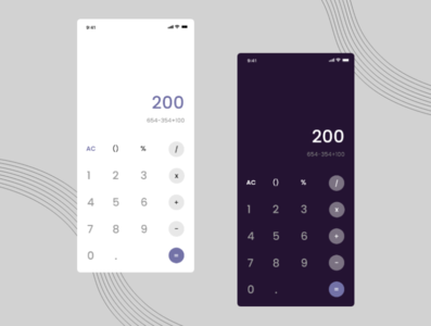 Calculator UI design mockup graphic design design daily 100 dailyui daily ui uiux app ux ui dark theme dark mode calculator design calculator app calculator ui