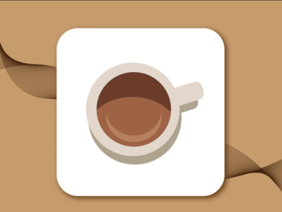 Cafe App Icon daily 100 challenge cafe logo cafe app logo icon appicon app design uiux ui dailyui