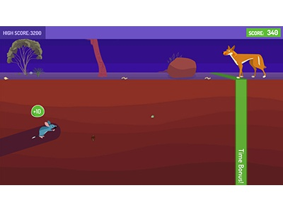 Can You Dig It?  game pbskids education kids game design ui children