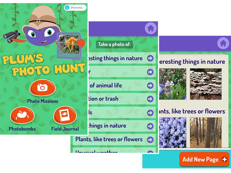 Plum's Photo Hunt app app design children kids wgbh pbskids