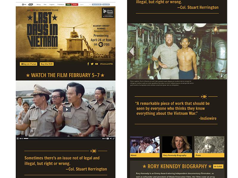 Last Days in Vietnam responsive website responsive web design pbs modules