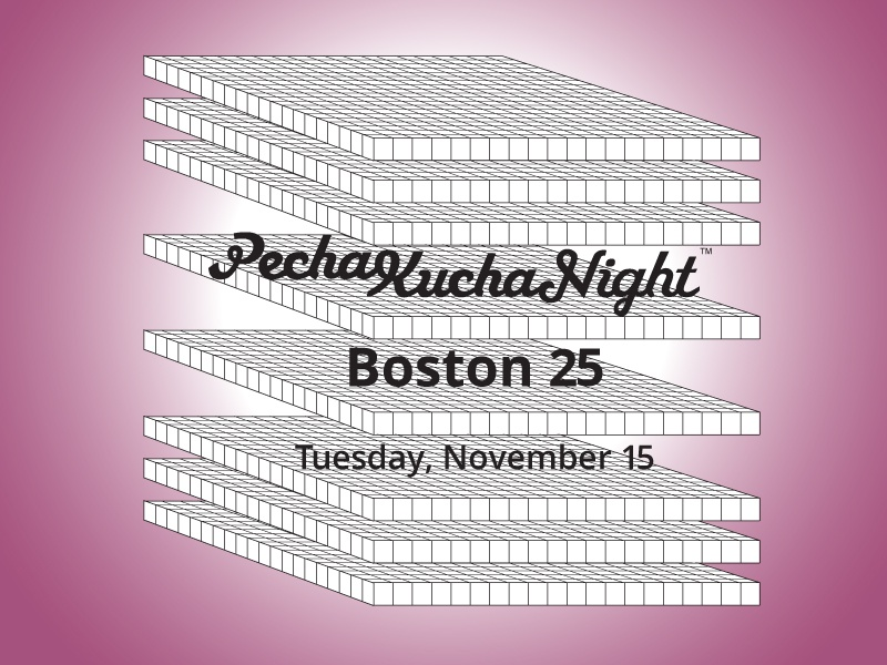 PechaKucha Boston Poster typography poster