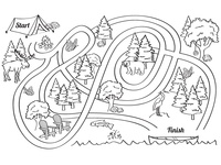Kids Activity Page - Maze