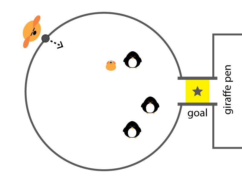 Penguin Pool Sketch education kids game design sketch
