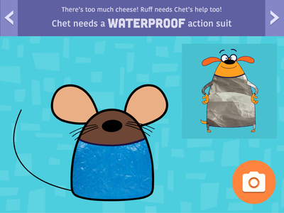 Ruff Ruffman Material Science App - Early Comp  ux ui kids game education