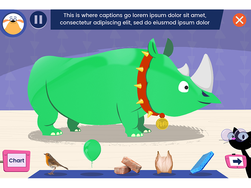 Dress That Rhino! look and feel kids design ux ui