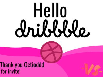 Hello Dribbble! art vector hello dribble