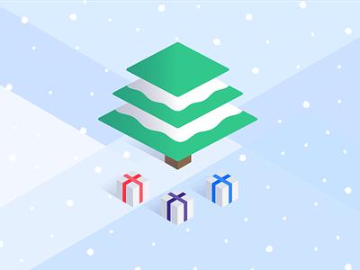 Happy Holidays! leadpages illustration isometric christmas holidays