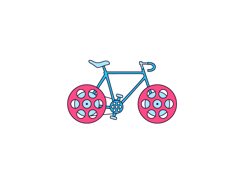 They See Me Rollin' sticker illustration wheels video film bicycle bike