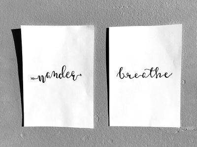 Inspired to Letter breathe wander micron sketch paper pen lyrics calligraphy hand-lettering lettering