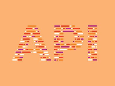 API letters orange retreat developers code shirt t-shirt api