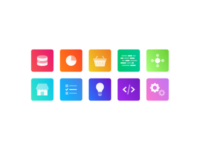 Jira icons gradient icons gradient project management teams jira illustration iconography icon set icons