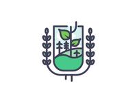 Re Growth Shield icon illustration