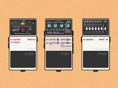 Guitar Pedals vector. guitar pedals flat icon simple illustration
