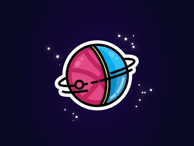 The world of dribbble - Sticker mule entry