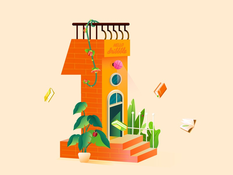hello dribbble design illustration