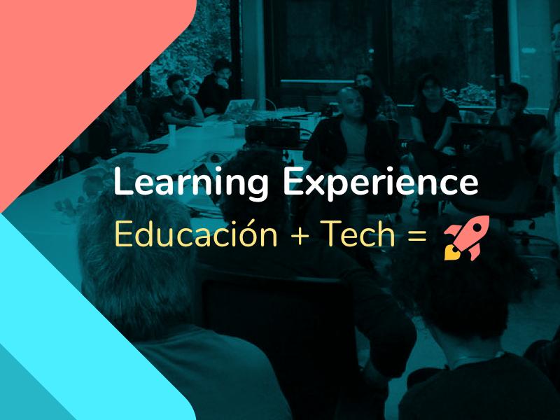 Learning Experience Logo Flyer meet up design illustration branding