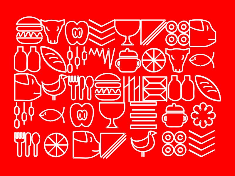 Comer Pattern app ui branding illustration