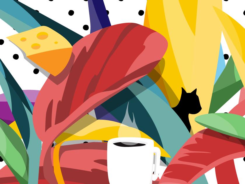 tocateunvals cheese! funny cartoon logo social media media vector design branding illustration