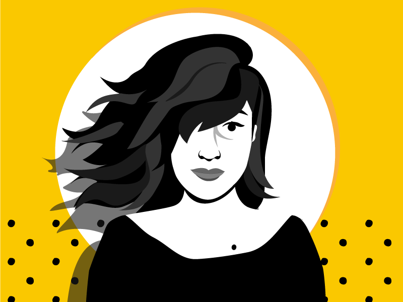 tocateunvals Lu! profile picture self portrait vector cartoon media logo design branding illustration