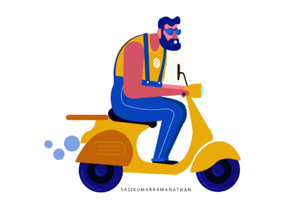 Flat character design illustration
