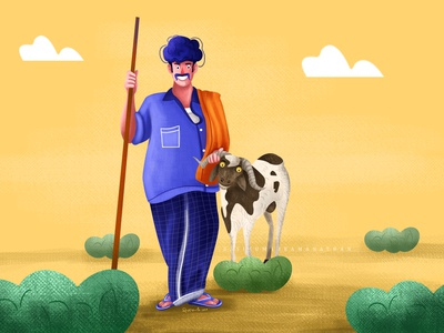farmer character 5 villagelife character design illustraion