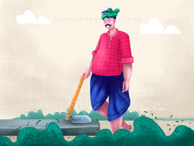 Farmer life illustration character design
