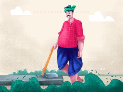 Farmer life illustration character design
