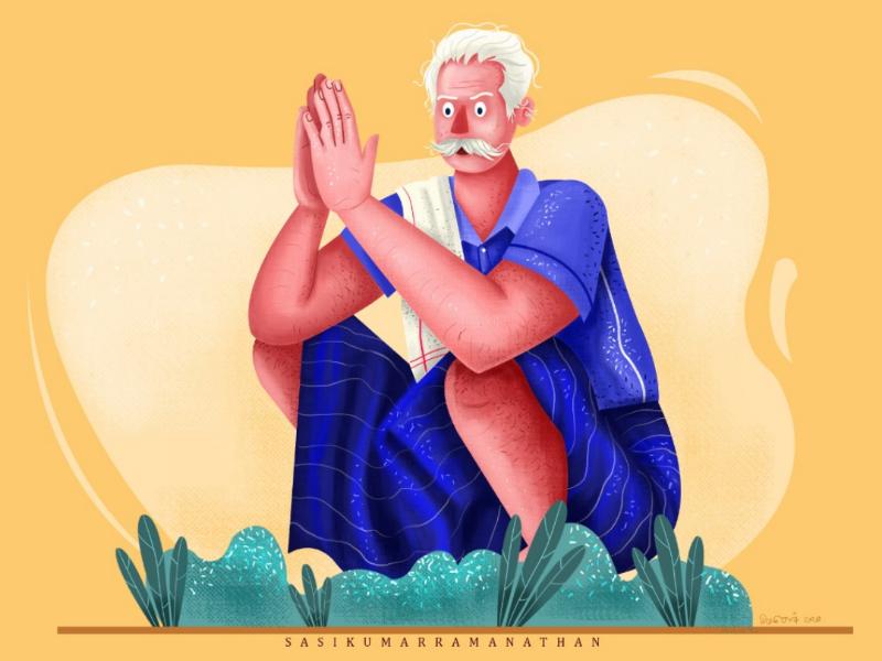 Farmer life illustration illustration digital art